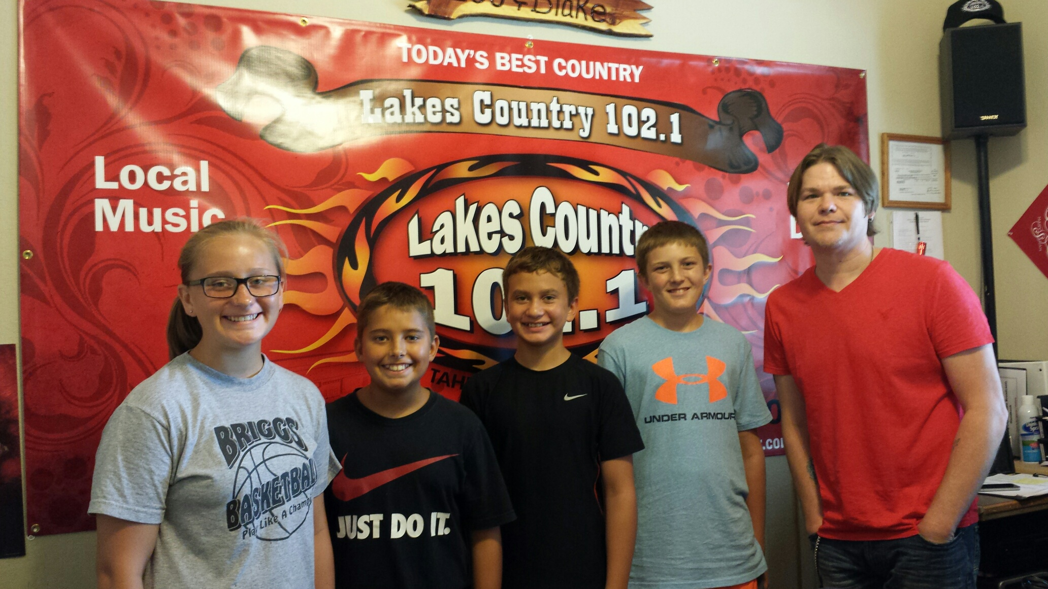 SWAT members making a commercial at Lakes Country 102.1